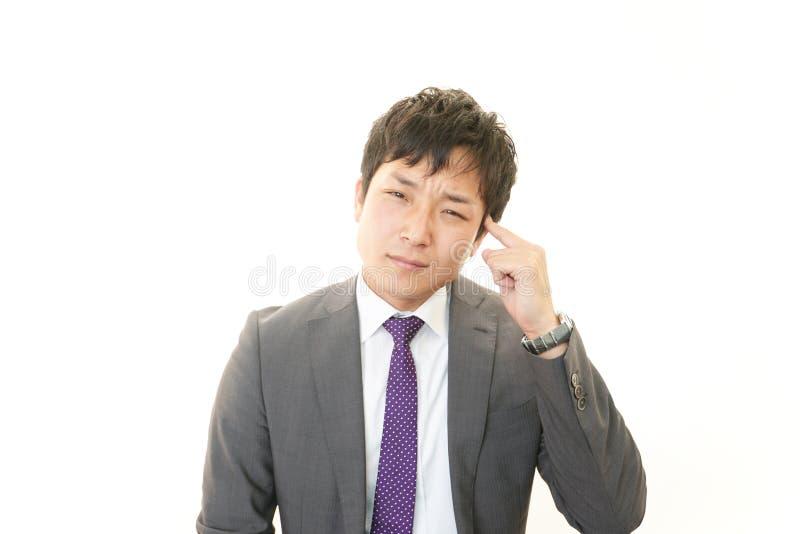 Hombre de negocios decepcionado fotografía de archivo