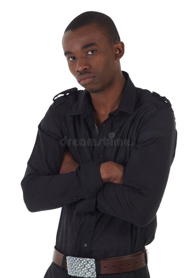 Hombre de negocios del africano negro imagenes de archivo
