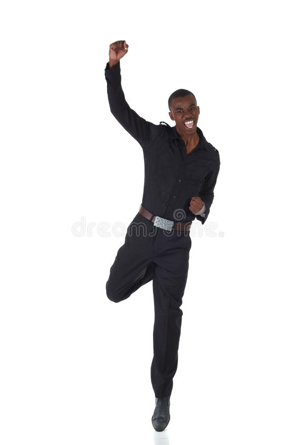 Hombre de negocios del africano negro imagen de archivo libre de regalías