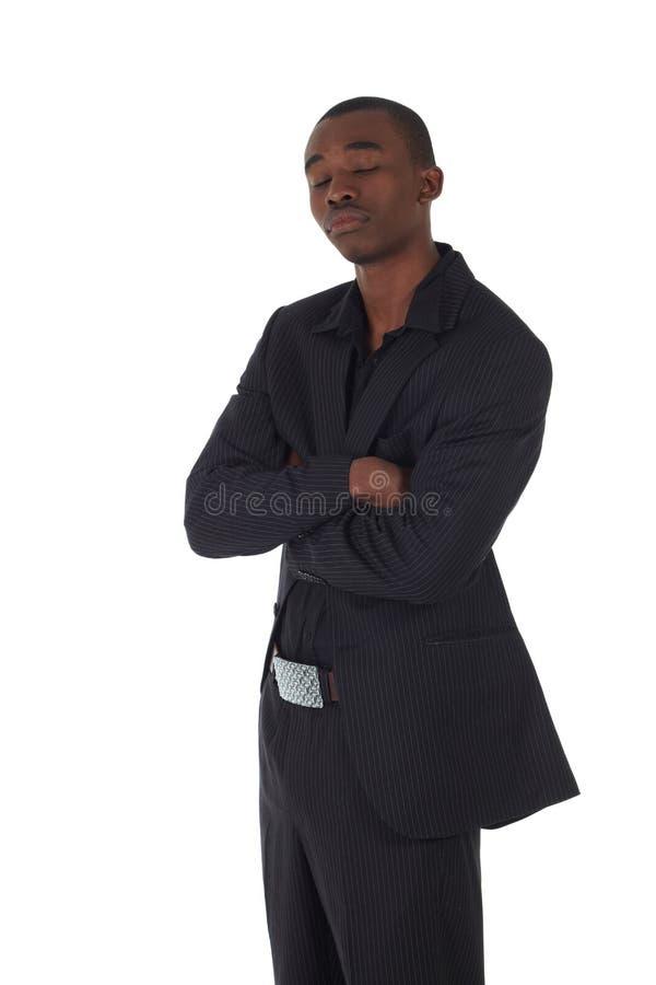 Hombre de negocios del africano negro fotografía de archivo libre de regalías
