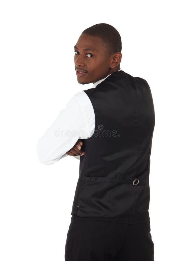 Hombre de negocios del africano negro foto de archivo