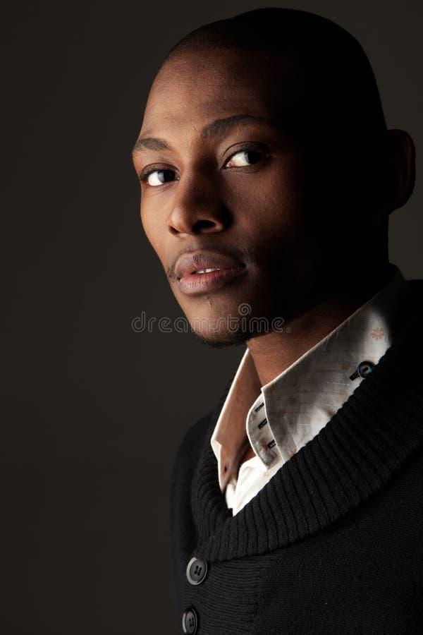 Hombre de negocios del africano negro imagen de archivo