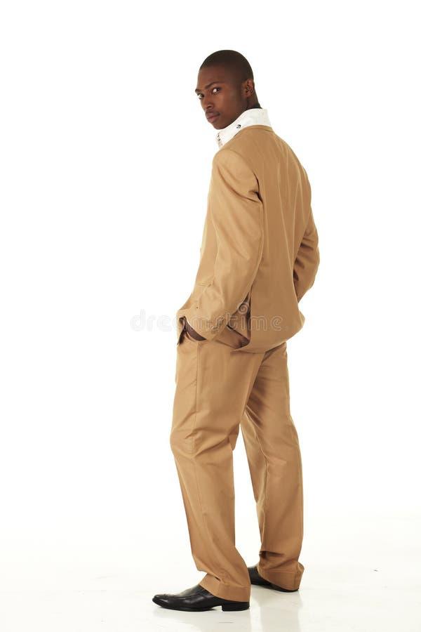 Hombre de negocios del africano negro fotos de archivo