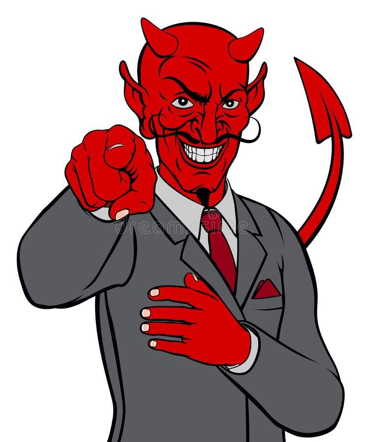 Hombre de negocios del diablo stock de ilustración