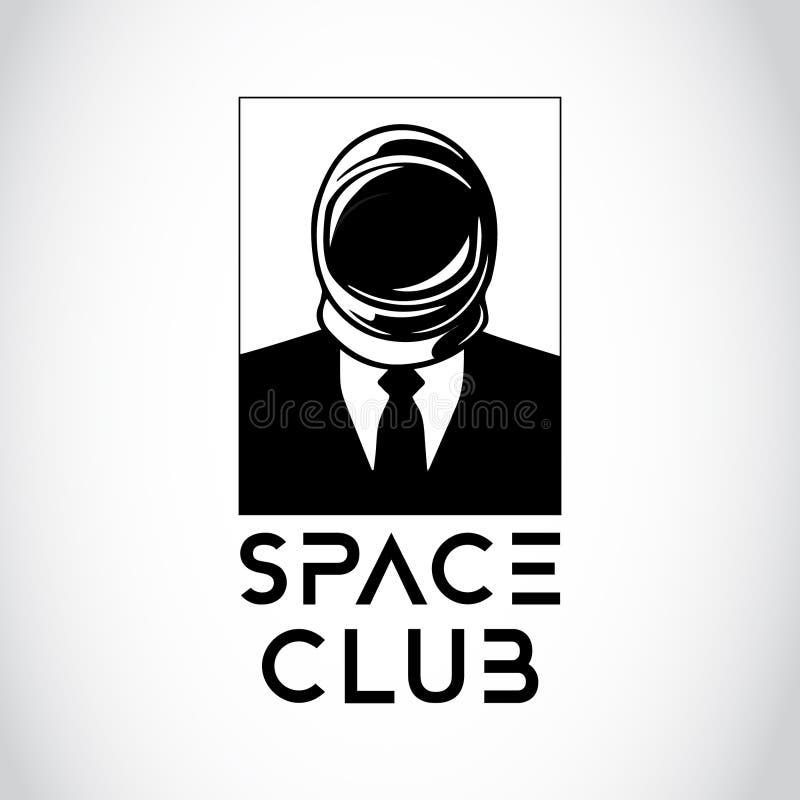 Hombre de negocios del espacio ilustración del vector