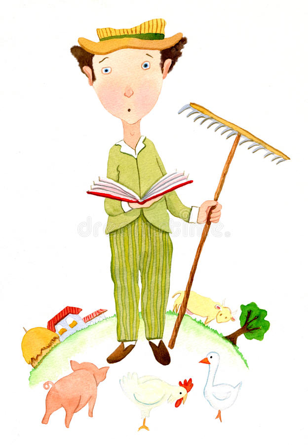 Hombre de negocios del granjero libre illustration