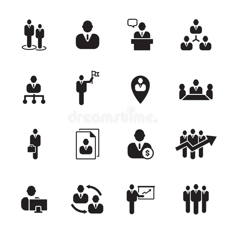 Hombre de negocios del icono, vector stock de ilustración