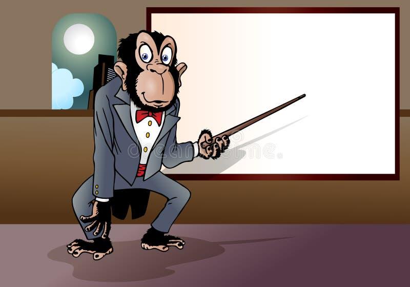Hombre de negocios del mono ilustración del vector