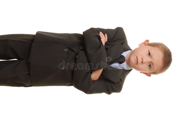 Hombre de negocios del muchacho foto de archivo libre de regalías