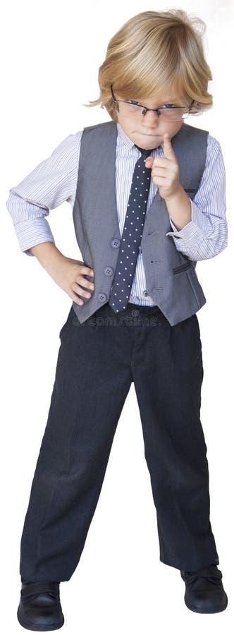 Hombre de negocios del muchacho, enojado imagen de archivo