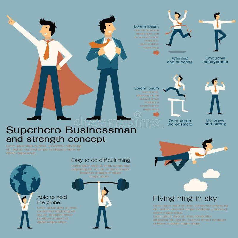 Hombre de negocios del super héroe ilustración del vector