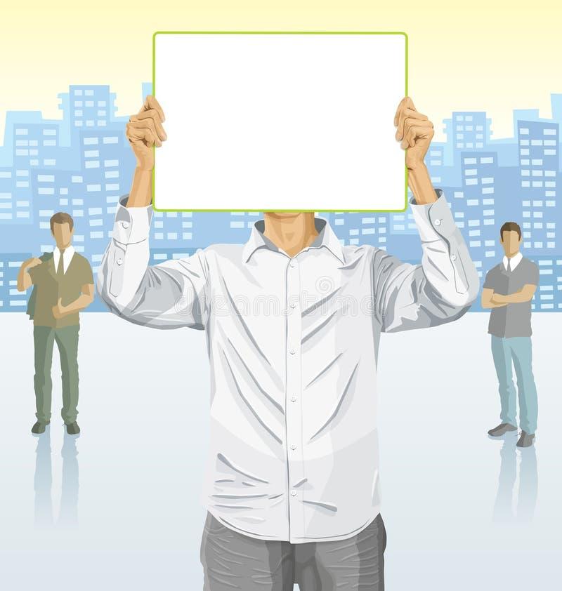 Hombre de negocios del vector y siluetas de hombres de negocios imagen de archivo