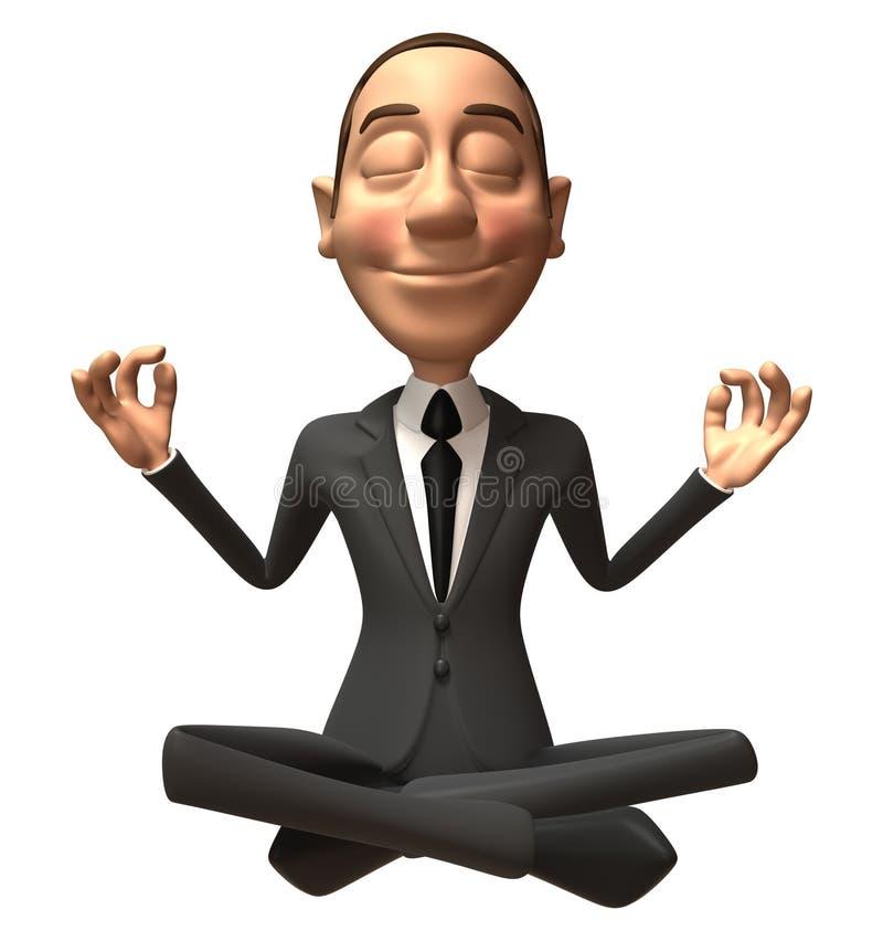 Hombre de negocios del zen ilustración del vector