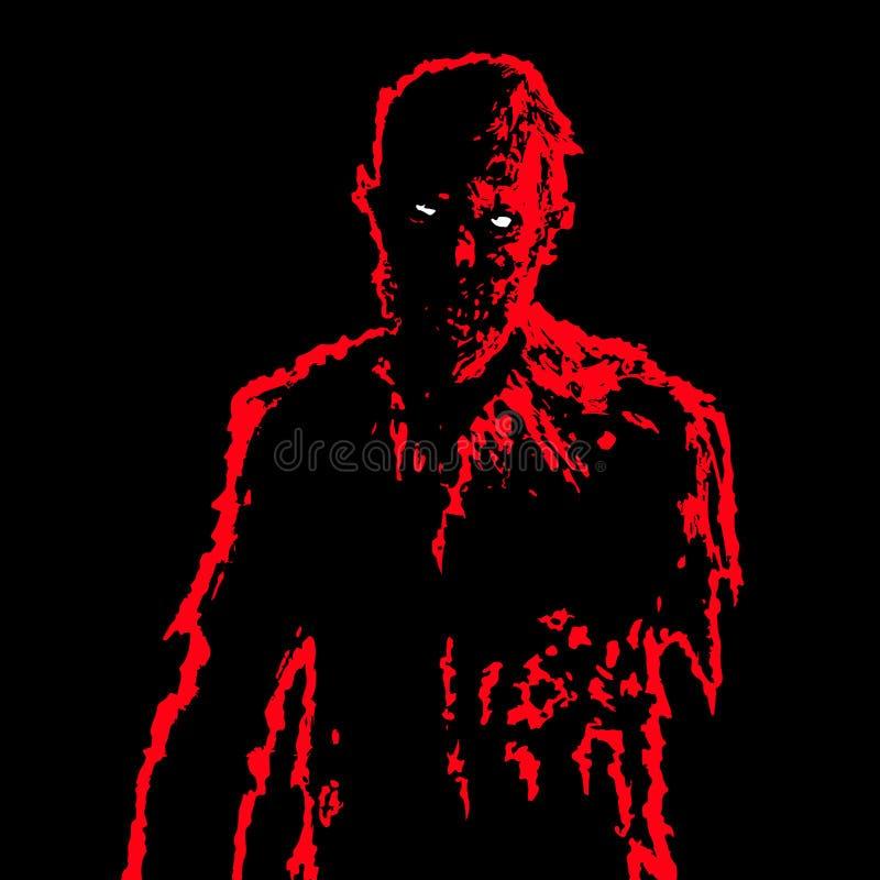 Hombre de negocios del zombi en colores blancos y negros Ilustración del vector ilustración del vector