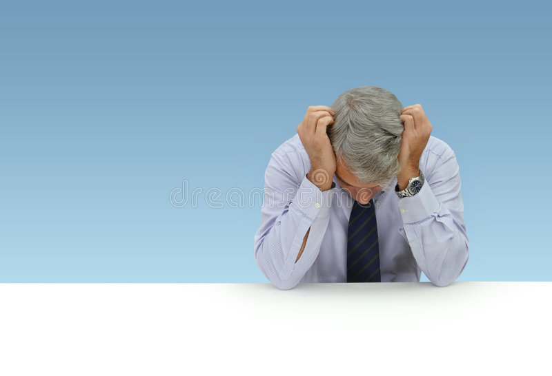 Hombre de negocios deprimido imagen de archivo libre de regalías