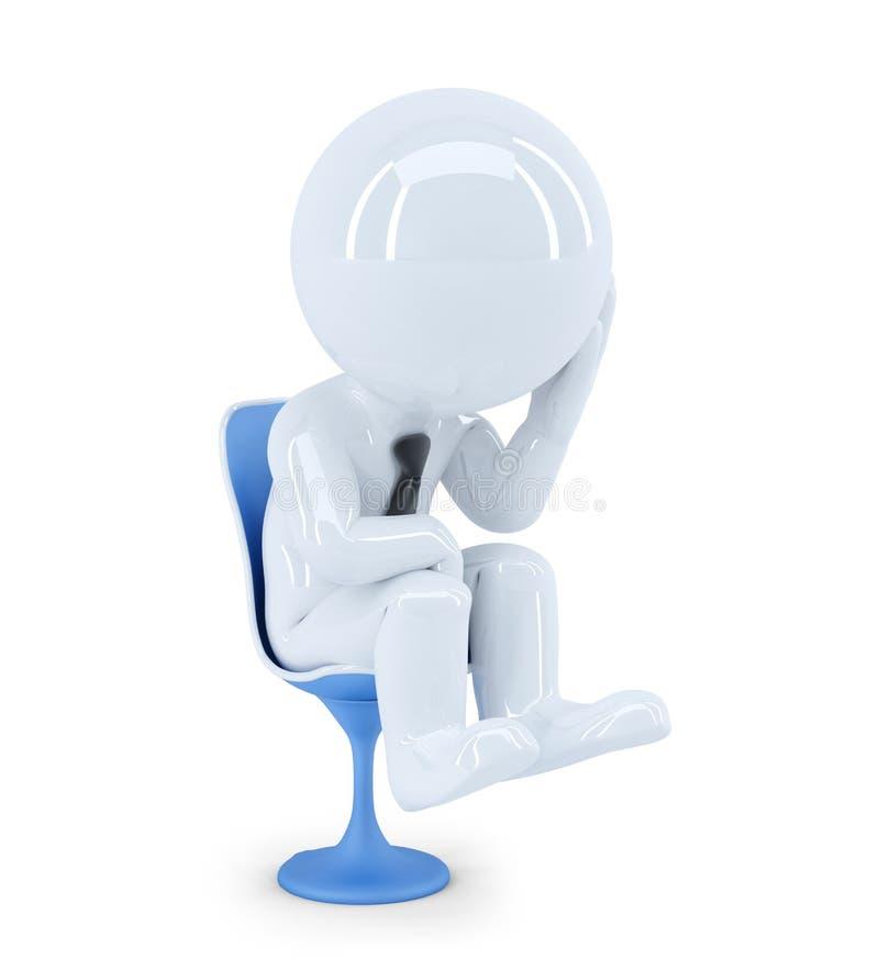 Hombre de negocios deprimido. Aislado stock de ilustración