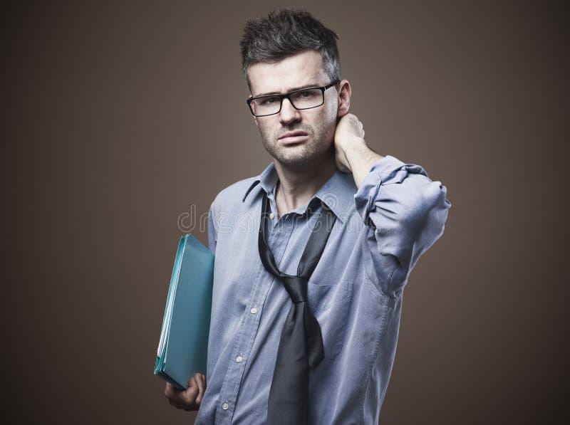 Hombre de negocios desordenado confuso fotografía de archivo