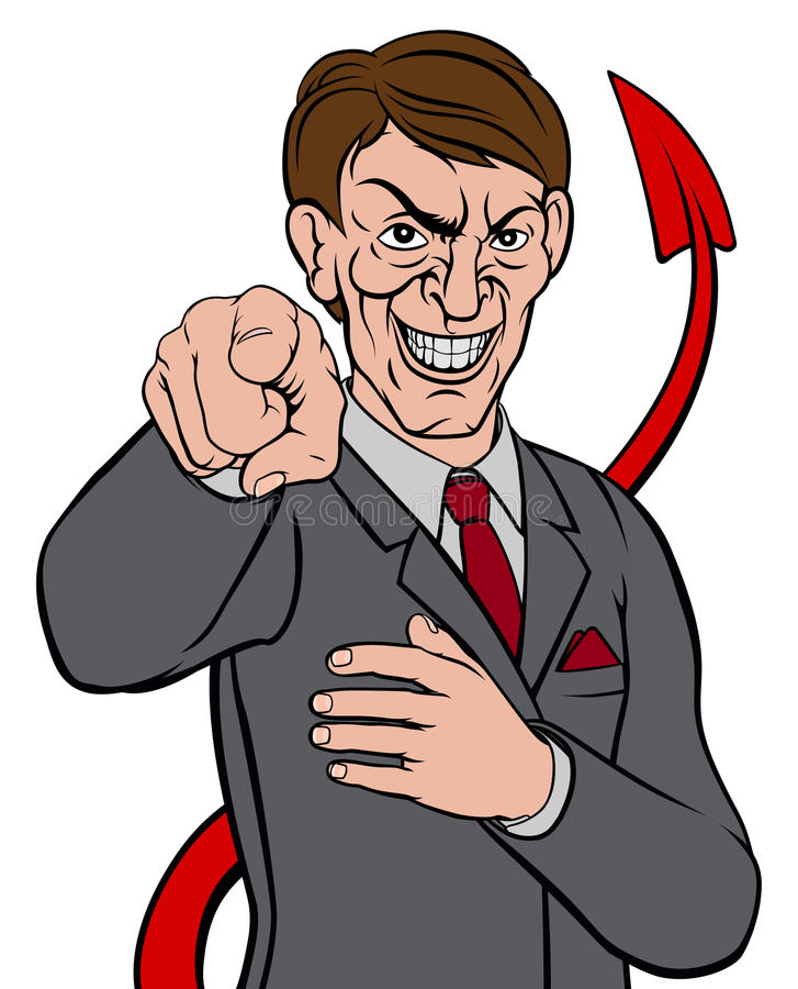 Hombre de negocios Devil Tail libre illustration