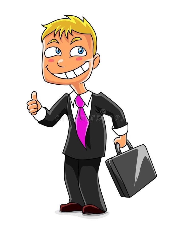 Hombre de negocios divertido ilustración del vector