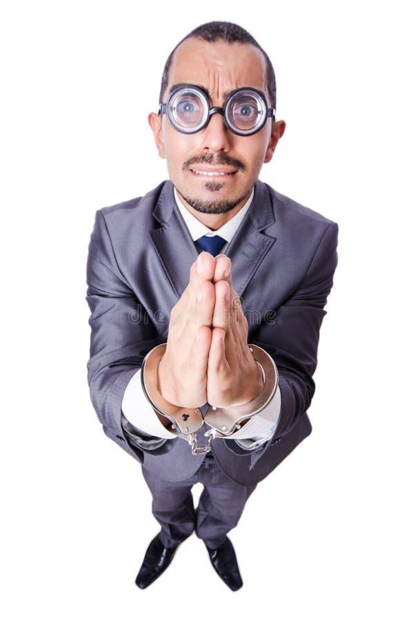 Hombre de negocios divertido fotografía de archivo