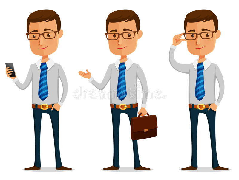 Hombre de negocios divertido de la historieta libre illustration