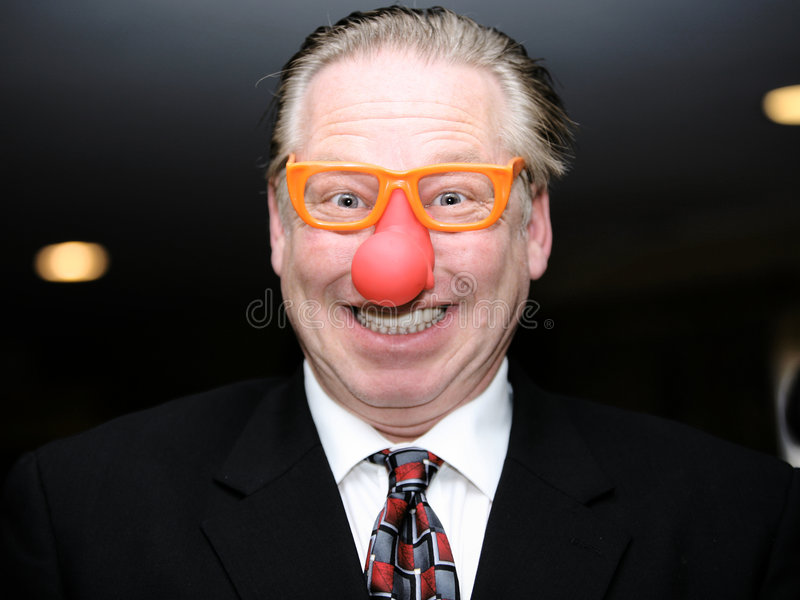 Hombre de negocios divertidos imagen de archivo libre de regalías
