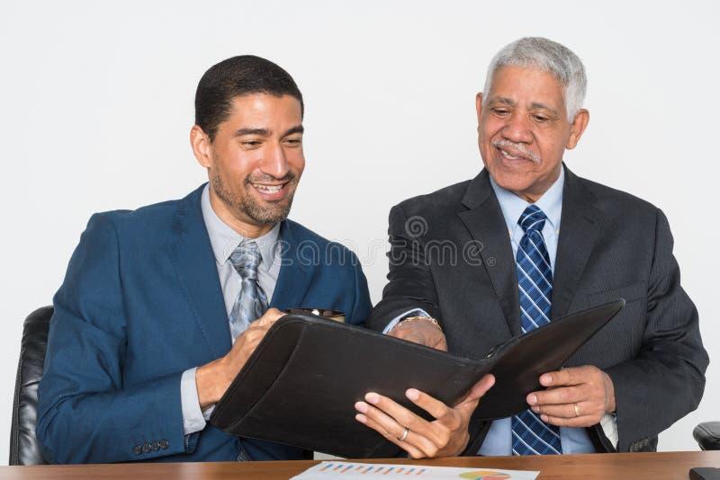 Hombre de negocios Doing Financial Planning imagenes de archivo