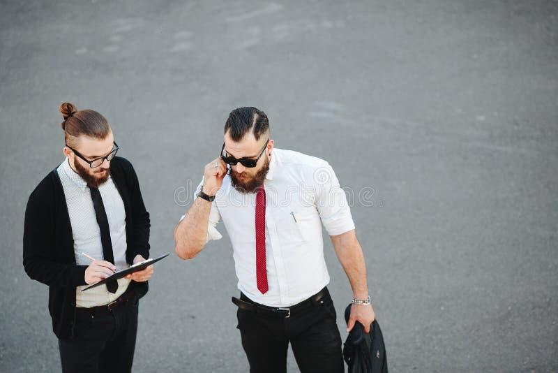 Hombre de negocios dos en el trabajo fotos de archivo libres de regalías