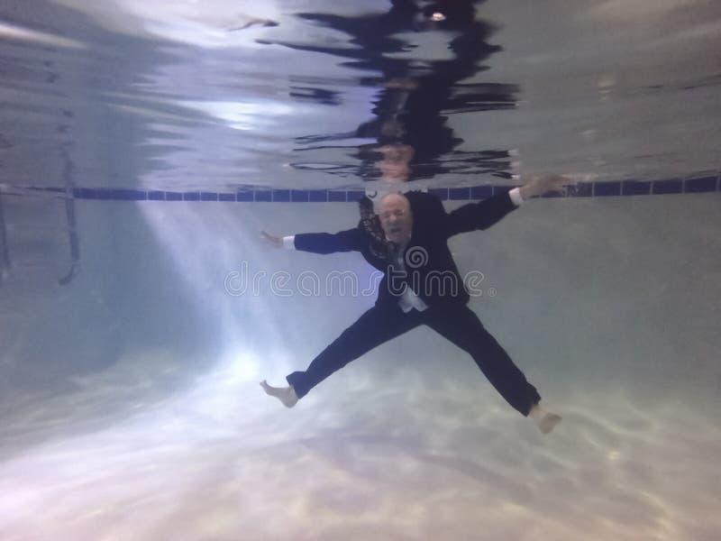 Hombre de negocios Drowning fotografía de archivo