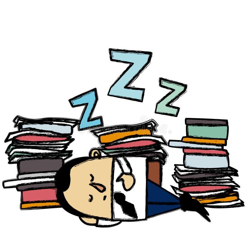 Hombre de negocios durmiente ilustración del vector