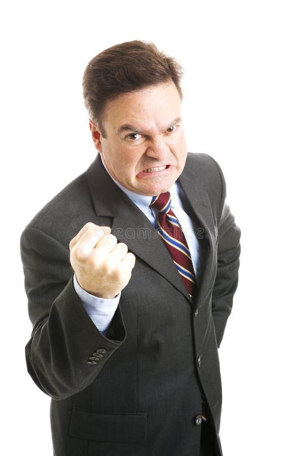 Hombre de negocios - el amenazar enojado fotos de archivo libres de regalías