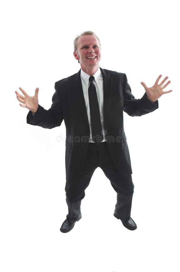 Hombre de negocios emocionado imagenes de archivo