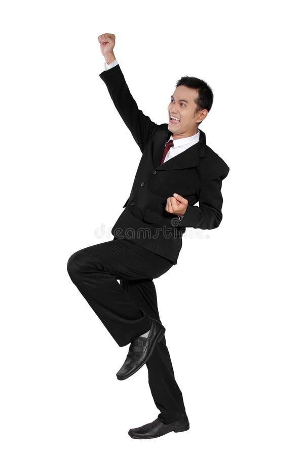 Hombre de negocios emocionado estupendo imagenes de archivo