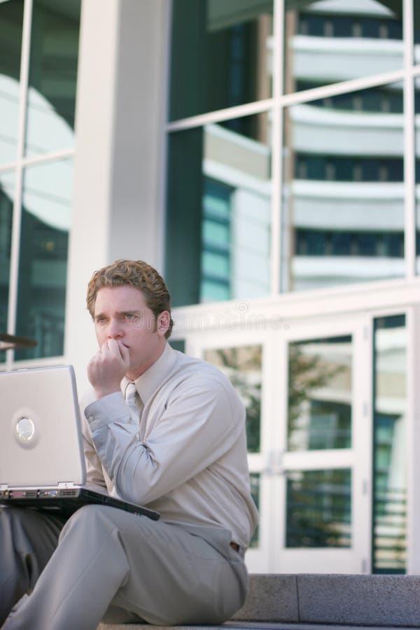Hombre de negocios en cuestión fotografía de archivo libre de regalías
