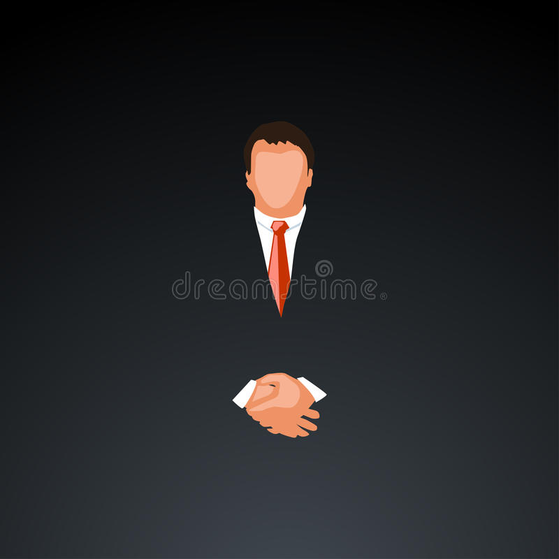 Hombre de negocios en dark1 stock de ilustración