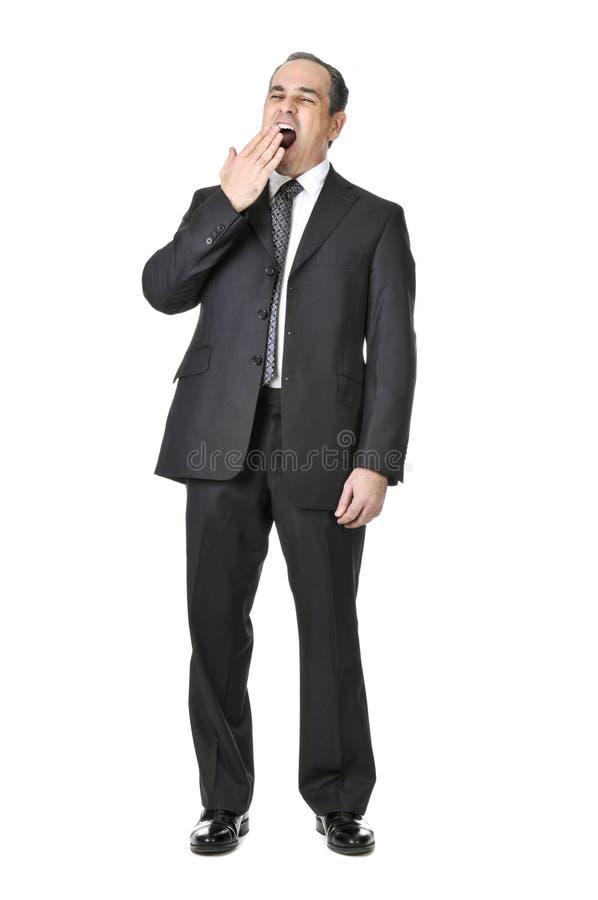 Hombre de negocios en el fondo blanco fotografía de archivo