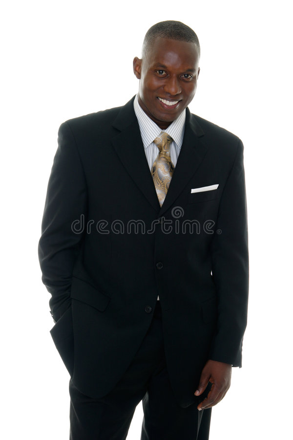 Hombre de negocios en el juego negro 3 imagen de archivo libre de regalías