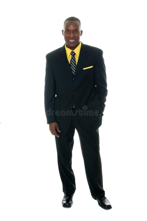 Hombre de negocios en el juego negro 5 imagen de archivo libre de regalías