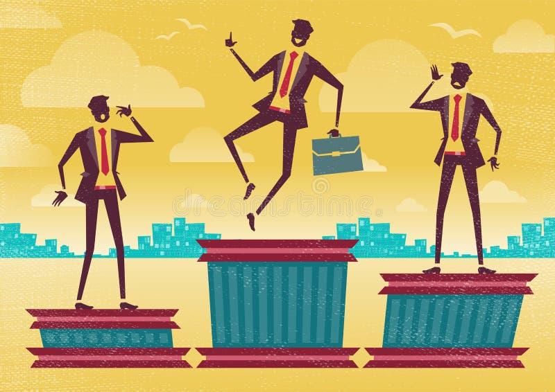 Hombre de negocios en el podio que gana libre illustration