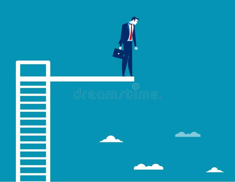 Hombre de negocios en el tablero de salto Vector del negocio del concepto ilustración del vector