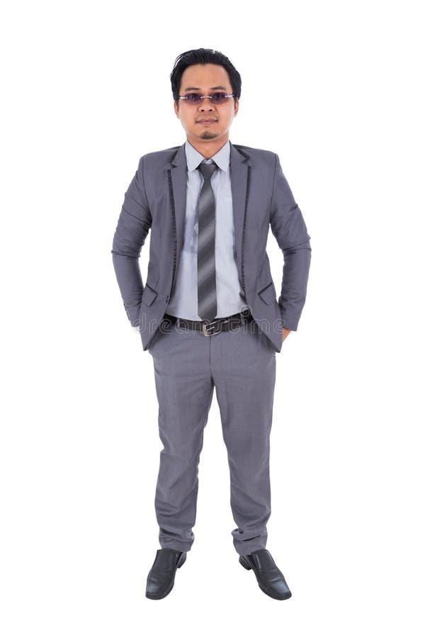 Hombre de negocios en el traje aislado en el fondo blanco fotos de archivo
