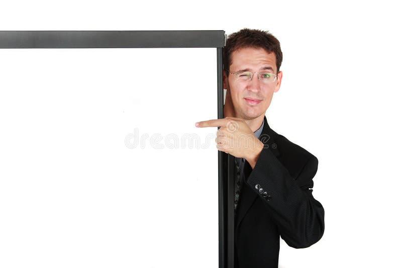 Hombre de negocios en el whiteboard foto de archivo libre de regalías