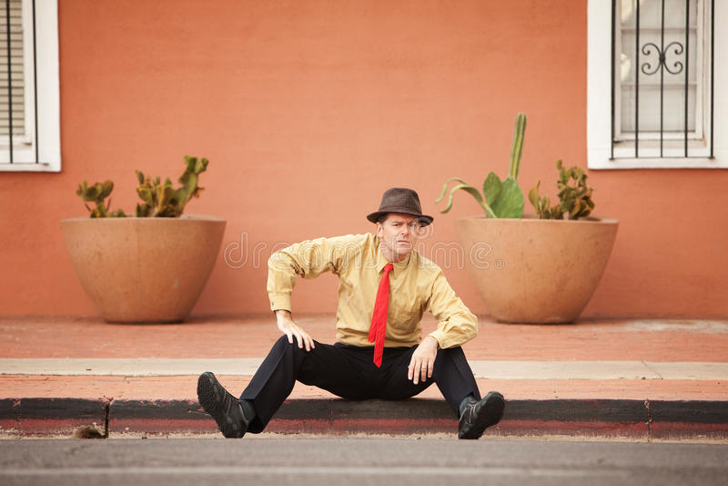 Hombre de negocios en la calle fotografía de archivo libre de regalías