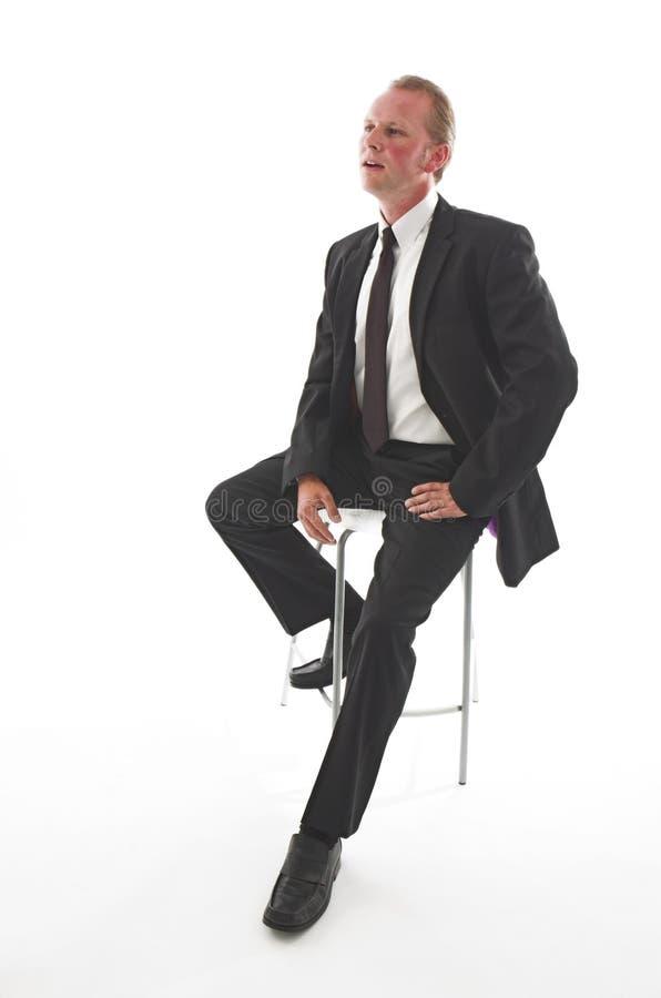 Hombre de negocios en la conversación imagen de archivo