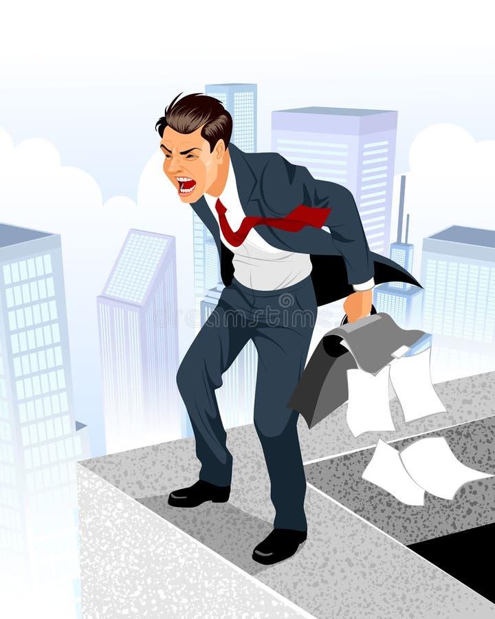 Hombre de negocios en la desesperación libre illustration