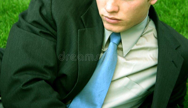 Hombre de negocios - en la hierba imagen de archivo libre de regalías