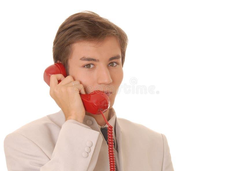 Hombre de negocios en la llamada 2 fotografía de archivo libre de regalías
