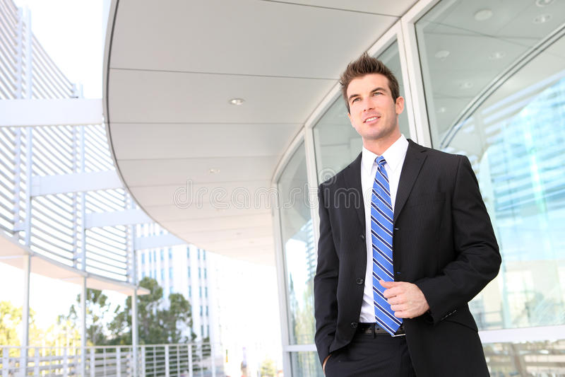 Hombre de negocios en la oficina fotos de archivo