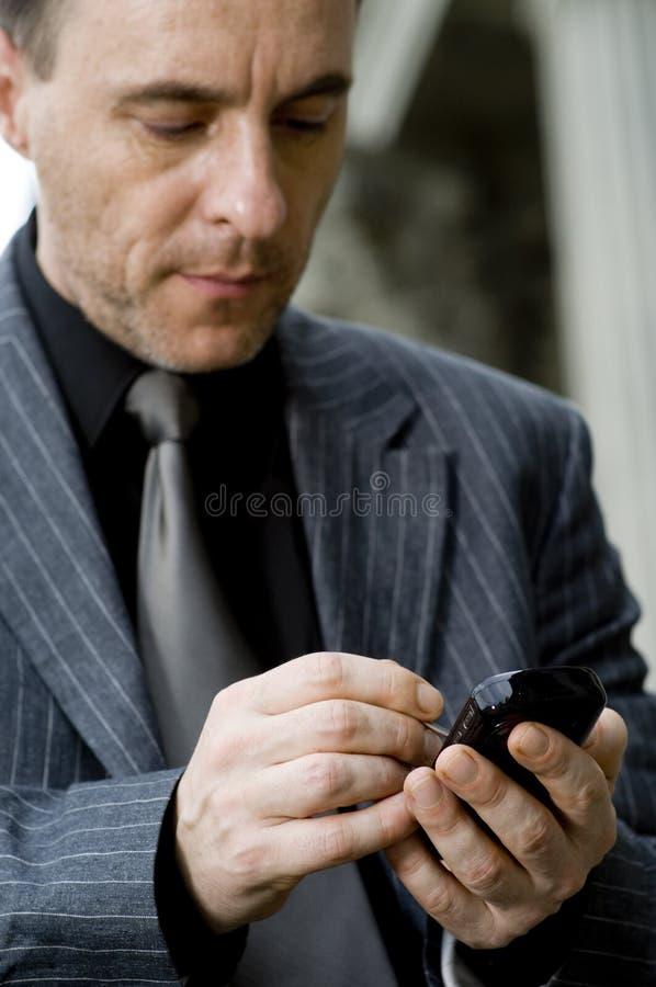 Hombre de negocios en movimiento fotografía de archivo