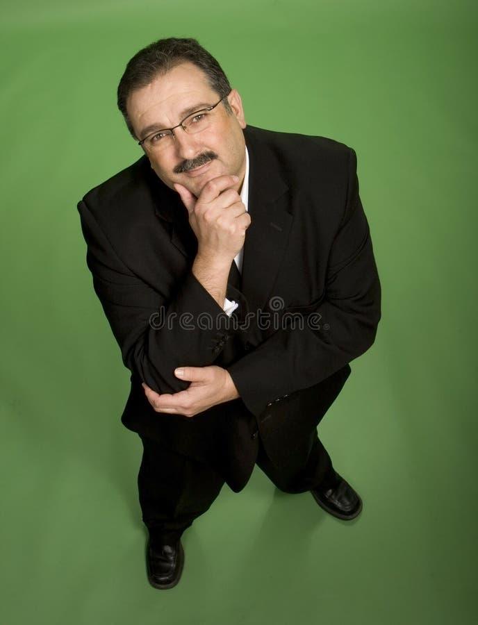 Hombre de negocios en pensamiento fotografía de archivo libre de regalías